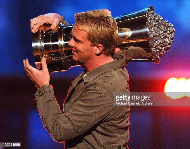 Anthony Michael Hall accepts the Silver Bucket of Excellence Award for The Breakfast Club