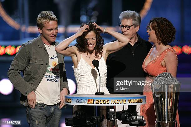 Anthony Michael Hall Ally Sheedy Paul Gleason Molly Ringwald winners of the Silver Bucket of Excellence Award for The Breakfast Club