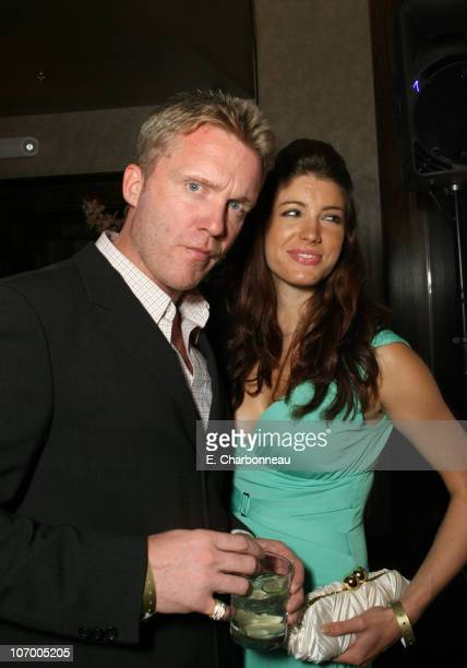 Anthony Michael Hall and Corinne Saffel during Entertainment Weekly Magazine 4th Annual Pre-Emmy Party - Inside at Republic in Los Angeles,...