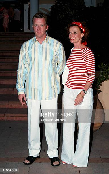 Anthony Michael Hall and guest during 44th Monte Carlo Television Festival Beach Club Party Arrivals at Monte Carlo Beach Hotel in Monte Carlo Monaco