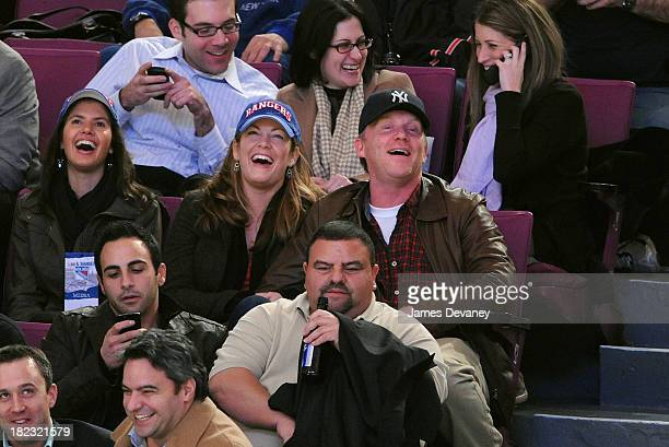 Anthony Michael Hall and guest seen at the Atlanta Thrashers and New York Rangers game at Madison Square Garden on November 12 2009 in New York City