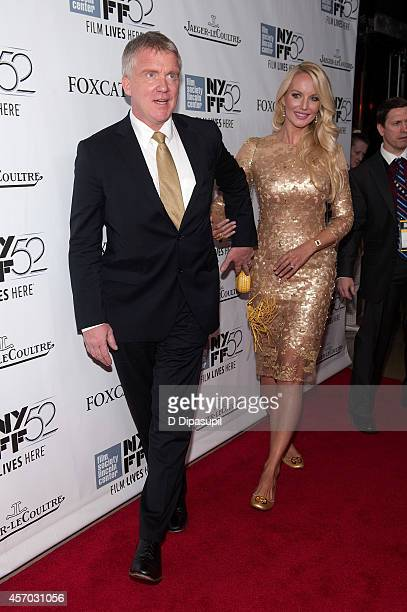 Anthony Michael Hall and Lucia Oskerova attend the Foxcatcher premiere during the 52nd New York Film Festival at Alice Tully Hall on October 10 2014...
