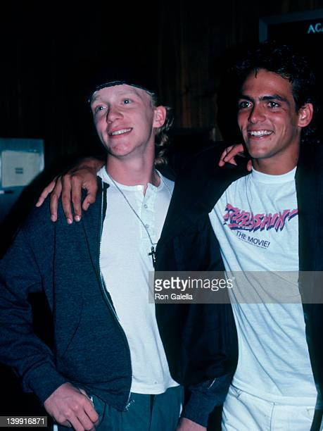 Anthony Michael Hall and Robert Russler at the Premiere of 'Trashin'' Academy Theater Beverly Hills