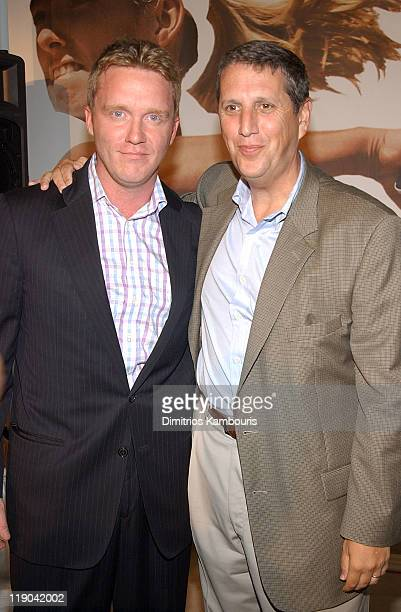 Anthony Michael Hall and USA Network President Doug Herzog