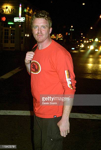 Anthony Michael Hall during Anthony Michael Hall Sighted Outside the Bleecker Theater September 9 2003 at The Bleeker Theater in New York City New...