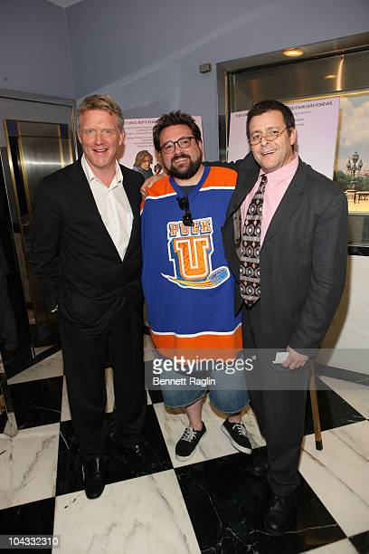Anthony Michael Hall Kevin Smith and Judd Nelson attend the Film Society of Lincoln Center's celebration of John Hughes on the 25th anniversary of...