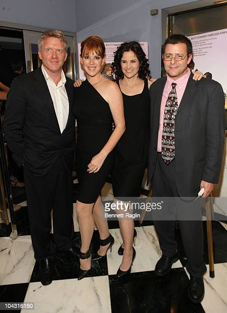 Anthony Michael Hall Molly Ringwald Ally Sheedy and Judd Nelson attend the Film Society of Lincoln Center's celebration of John Hughes on the 25th...