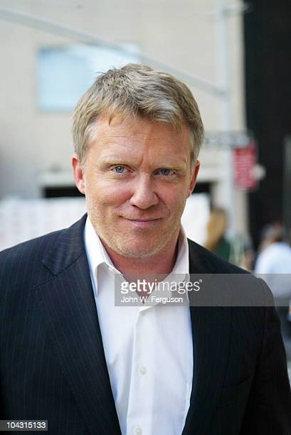 Anthony Michael Hall out and about before he attends the Film Society of Lincoln Center's celebration of John Hughes on the 25th anniversary of his...