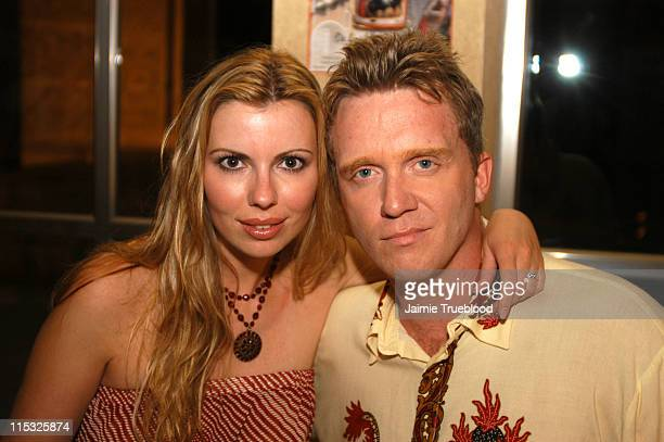 Anthony Michael Hall with girlfriend Sandra Guerard at the VIP room