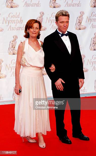 Anthony Michael Hall with his mother Mercedes Hall