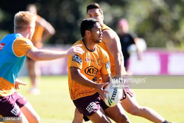 Anthony Milford in action during a Brisbane Broncos NRL training session at the Clive Berghofer Centre on July 07 2020 in Brisbane Australia