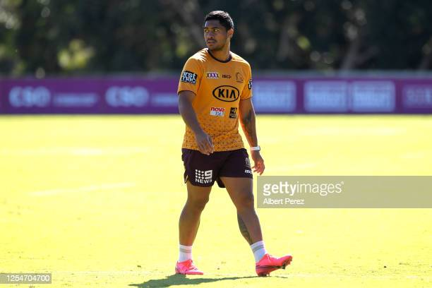 Anthony Milford looks on during a Brisbane Broncos NRL training session at the Clive Berghofer Centre on July 07 2020 in Brisbane Australia