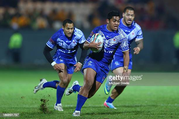 Anthony Milford of Samoa during the Rugby League World Cup Group B match between Papua New Guinea and Samoa at Craven Park Stadium on November 4,...