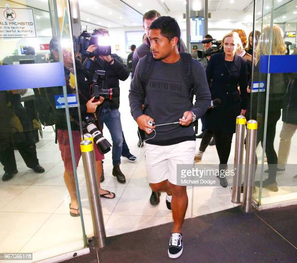 Anthony Milford possible replacement for Billy Slater of the Queensland Maroons arrives during a press conference at Melbourne Airport on June 4 2018...