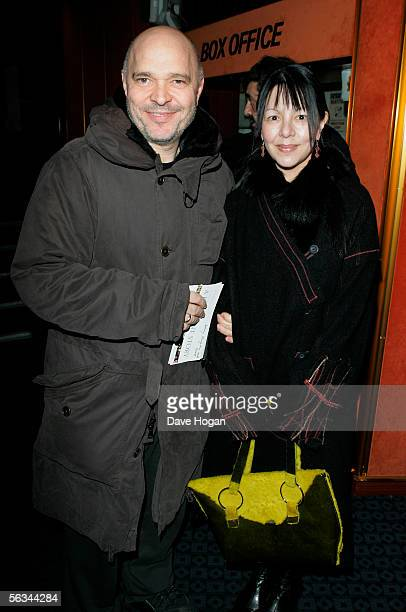Anthony Minghella and Carolyn Choa arrive at the VIP preview screening of A Different Story a documentary based on singer George Michael's life at...