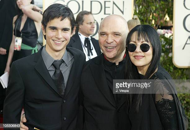 Anthony Minghella and family during The 61st Annual Golden Globe Awards Arrivals at The Beverly Hilton in Beverly Hills California United States