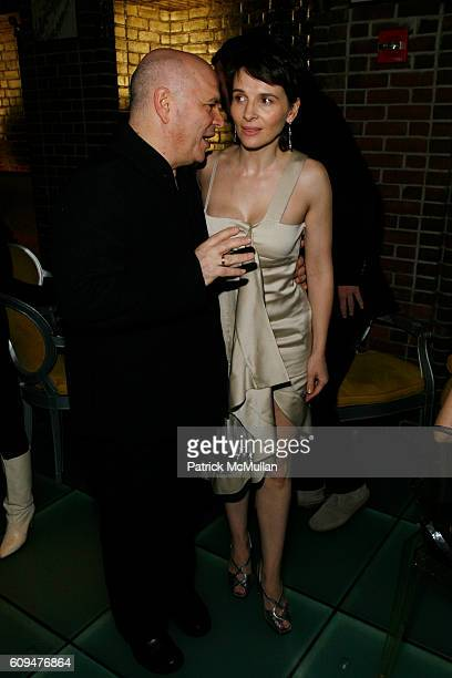 Anthony Minghella and Juliette Binoche attend BREAKING and ENTERING Premiere Screening AfterParty at Hudson Bar on January 18 2007 in New York City