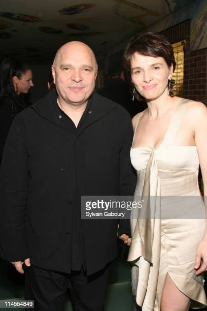 Anthony Minghella and Juliette Binoche during The Weinstein Company's 'Breaking and Entering' New York Premiere After Party at Hudson Hotel at 356...