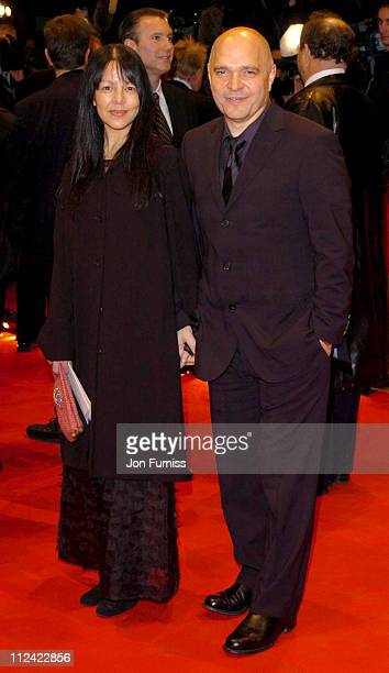 Anthony Minghella and wife during 2004 Berlin Film Festival 'Cold Mountain' Premiere Arrivals at Berlianle Palast in Berlin Germany