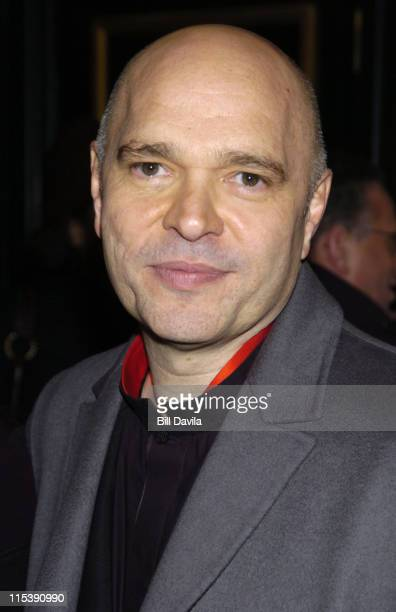 Anthony Minghella director during 'Cold Mountain' New York Premiere Inside Arrivals at The Ziegfeld Theater in New York City New York United States