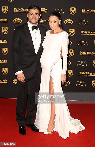 Anthony Minichiello and Terry Biviano arrive ahead of the 2013 Dally M Awards at Star City on October 1 2013 in Sydney Australia