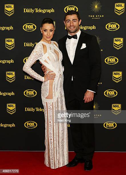 Anthony Minichiello and Terry Biviano arrive at the Dally M Awards at Star City on September 29 2014 in Sydney Australia