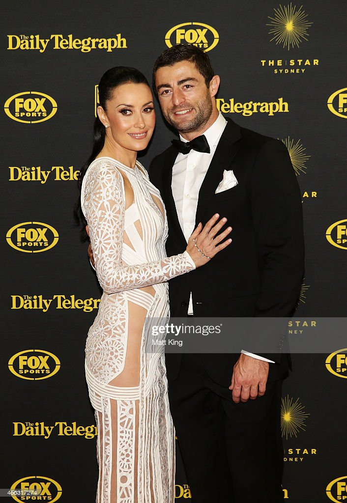 Anthony Minichiello and Terry Biviano arrive at the Dally M Awards at Star City on September 29, 2014 in Sydney, Australia.