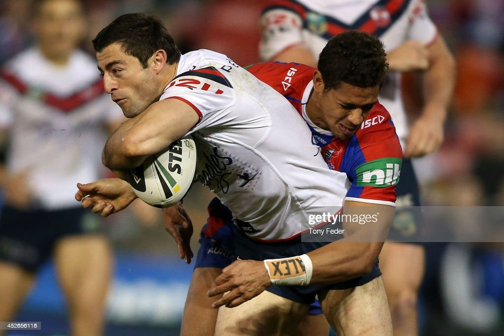 NRL Rd 20 - Knights v Roosters