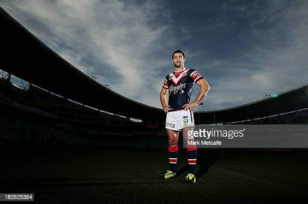 Anthony Minichiello poses during the Sydney Roosters NRL Grand Final media day at Allianz Stadium on September 30 2013 in Sydney Australia