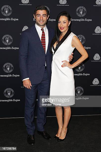 Anthony Minnichello and Terry Biviano arrive for the 50th Anniversary Wool Awards at the Royal Hall of Industries Moore Park on April 23 2013 in...