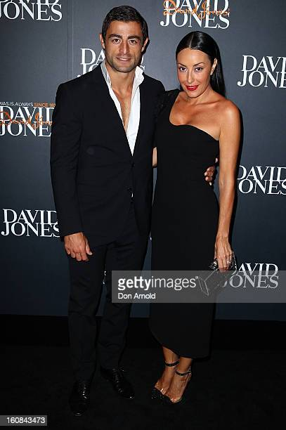 Anthony Minnichello and Terry Biviano arrive for the David Jones A/W 2013 Season Launch at David Jones Castlereagh Street on February 6 2013 in...