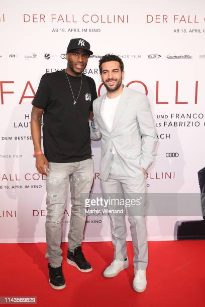 Anthony Modeste and Elyas M'Barek attend the Der Fall Collini premiere at Cinedome on April 18 2019 in Cologne Germany