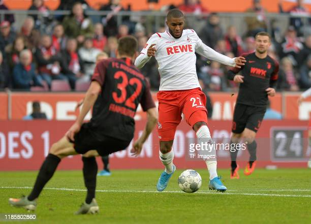 Anthony Modeste of 1. FC Koeln controls the ball during the Bundesliga match between 1. FC Koeln and FC Augsburg at RheinEnergieStadion on November...