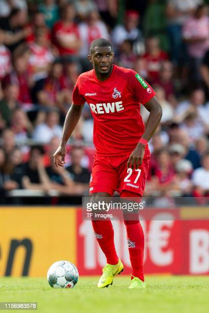 Anthony Modeste of 1. FC Koeln controls the ball during the Interwetten Cup match between SV Werder Bremen and 1. FC Koeln at Heinz-Dettmer-Stadion...