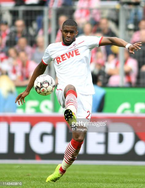 Anthony Modeste of 1. FC Koeln controls the ball during the Second Bundesliga match between 1. FC Koeln and SSV Jahn Regensburg at...