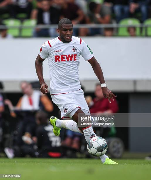 Anthony Modeste of 1.FC Koeln in action during the pre-season friendly match between SSV Reutlingen v 1. FC Koeln at Stadion an der Kreuzeiche on...