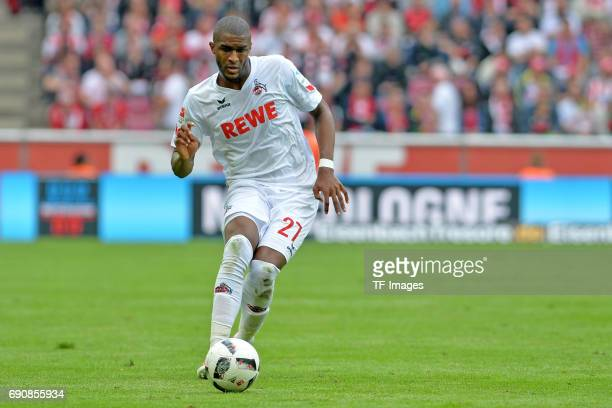 Anthony Modeste of Colonge in action during the Bundesliga Match between 1.FC Koeln and1. FSV Mainz 05 at RheinEnergieStadion on May 20, 2017 in...