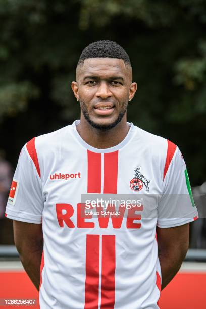Anthony Modeste of Köln poses during the team presentation on training ground at Geissbockheim on August 14, 2020 in Cologne, Germany.