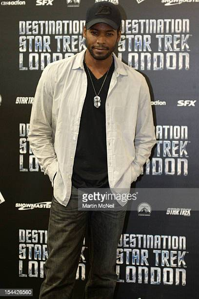Anthony Mongtomery attends a photocall at Destination Star Trek London at ExCel on October 19 2012 in London England