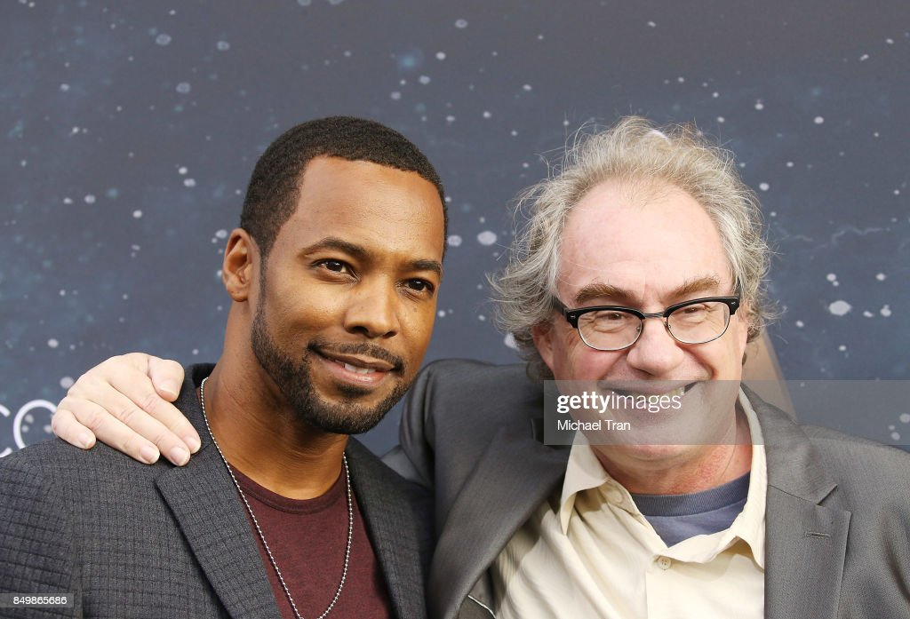 Anthony Montgomery (L) and John Billingsley attend the Los Angeles premiere of CBS's 'Star Trek: Discovery' held at The Cinerama Dome on September 19, 2017 in Los Angeles, California.