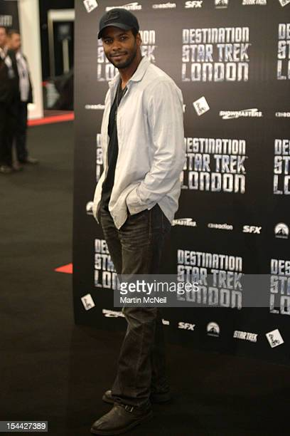Anthony Montgomery attends a photocall at Destination Star Trek London at ExCel on October 19 2012 in London England