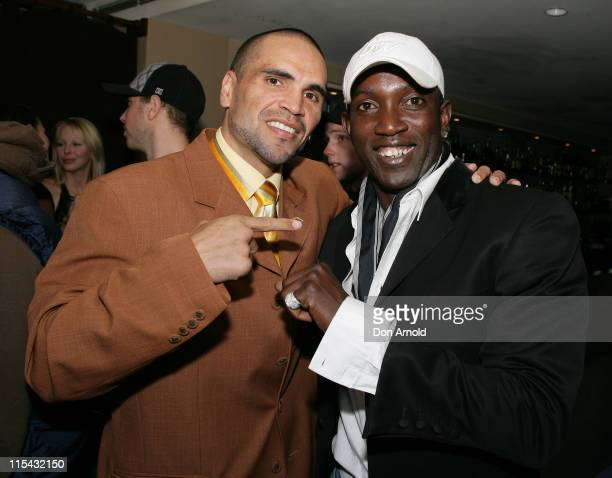 Anthony Mundine and Dwight Yorke during 2007 Make a Wish Foundation in Sydney at Shangri La Hotel in Sydney Australia