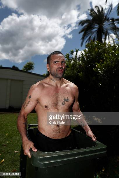 Anthony Mundine has an ice bath after a training session ahead of his fight with Jeff Horn on November 10 2018 in Brisbane Australia