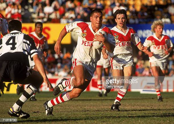 Anthony Mundine of the Dragons in action during a ARL match between the St George Dragons and the Western Suburbs Magpies held at Kogarah Oval 1995...