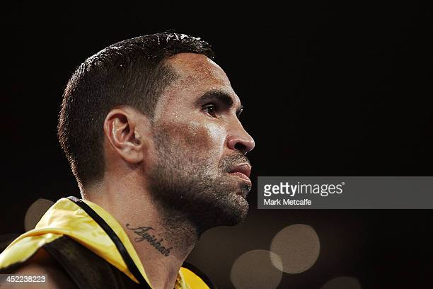 Anthony Mundine prepares to fight Shane Mosley during the WBA International super welterweight title bout between Anthony Mundine and Shane Mosley at...