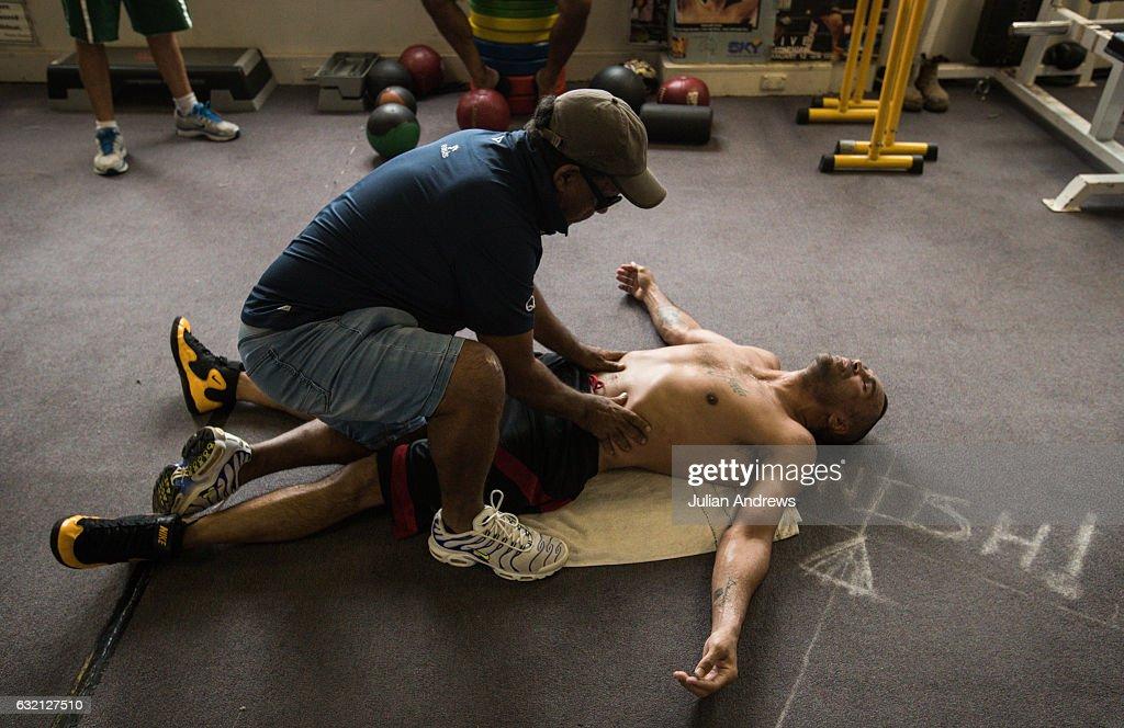 Anthony Mundine and Tim Tszyu Training Session