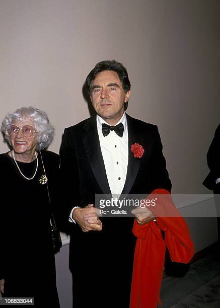 Anthony Newley and Mother during Birthday Tribute to Ella Fitzgerald Hosted by the Society of Singers April 28 1989 at Beverly Hilton Hotel in...