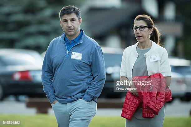 Anthony Noto chief financial officer of Twitter and his wife Kristin Noto attend the annual Allen Company Sun Valley Conference July 7 2016 in Sun...