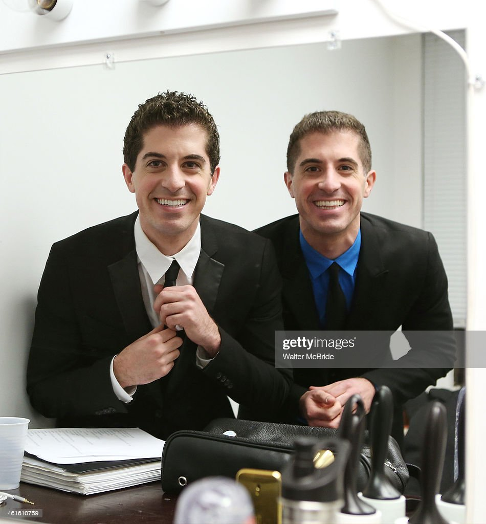Anthony Nunziata and Will Nunziata backstage before performing 'Broadway, Our Way' at 54 Below on January 9, 2014 in New York City.