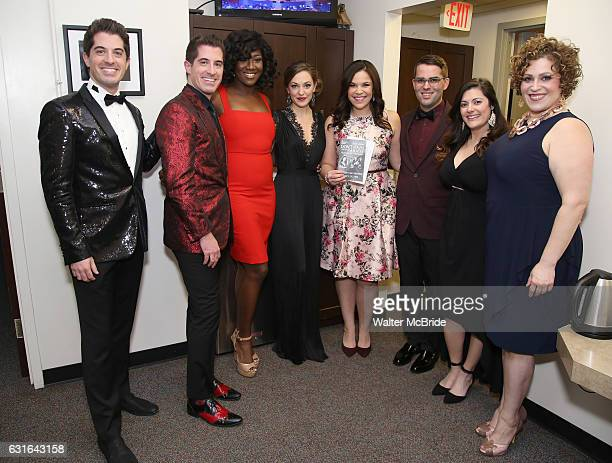 Anthony Nunziata Will Nunziata Amber Iman Laura Osnes Lindsay Mendez Luke S Frazier Bayla Whitten and Lucia Spina backstage at The American Pops...